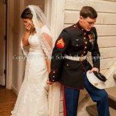 El fotógrafo encaje perfecto foto de la boda de la boda azul marino del Memorial Day