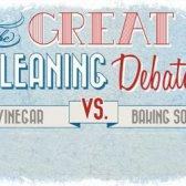 El gran debate de limpieza: vinagre vs bicarbonato de sodio