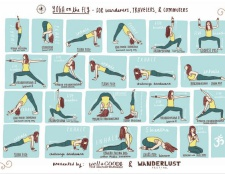 """""""El yoga sobre la marcha"""" pase de diapositivas"""